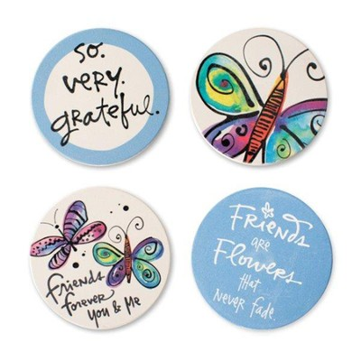 Friends Coasters, Set of 4 Assorted  -     By: Kathy Davis