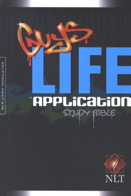 NLT Guys Life Application Study Bible - hardcover edition - Slightly Imperfect  -