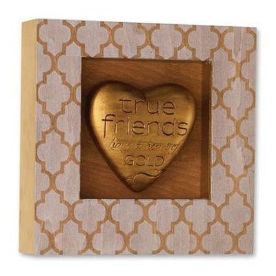 True Friends Heart Shadow Box  -
