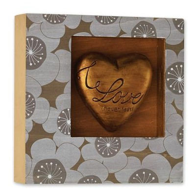 Love Never Fails Heart Shadow Box  -