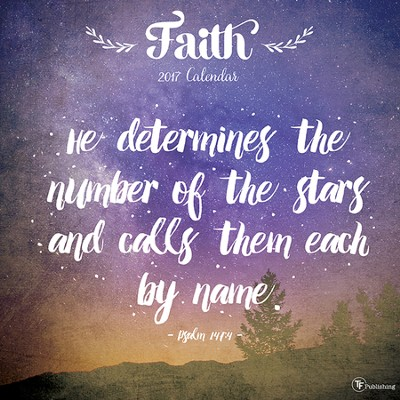 2017 Faith Wall Calendar  -