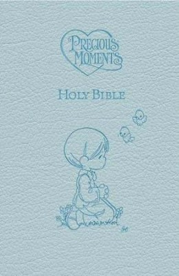 ICB Precious Moments Holy Bible - Blue Edition - Imperfectly Imprinted Bibles  -