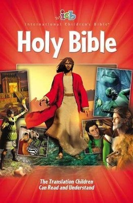 ICB Big Red Holy Bible, Contemporary 3-D Art Edition  - Slightly Imperfect  -
