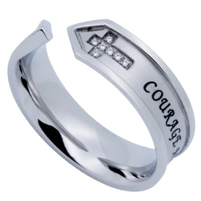 Courage and Trust Nexus Women's Ring, Size 5 (Deuteronomy 31:6-8)  -