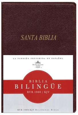 Biblia Bilingue RVR 1960-KJV, Piel Imit. Rojizo  (RVR 1960-KJV Bilingual Bible, Imit. Leather Burgundy)  -