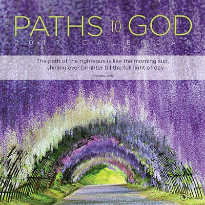 2017 Paths To God Wall Calendar  -