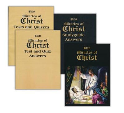 Landmark's Freedom Baptist, Bible B120, Miracles of Christ Grade 4   -