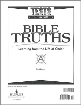 BJU Bible Truths Level A (Grade 7), Testpack 3rd Edition     -