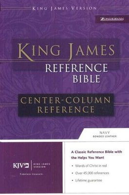 KJV Reference, bonded navy, indexed   -