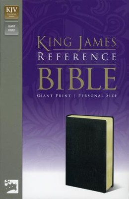 KJV Personal-Size Giant Print Reference Bible Imitation Leather, Black  -