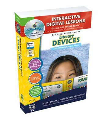 Literary Devices Interactive Digital Lessons on CD-ROM Grades 5-8  -     By: Brenda Rollins