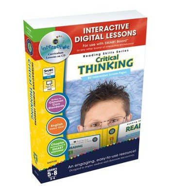 Critical Thinking Interactive Digital Lessons on CD-ROM Grades 5-8  -     By: Brenda Rollins