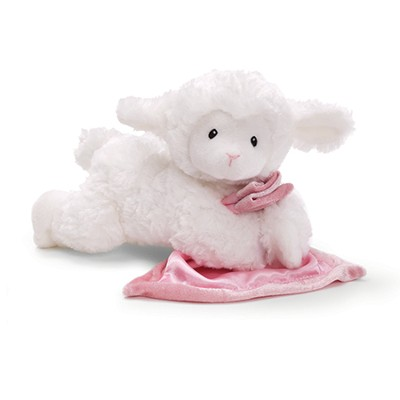 Lamb Prayer Blankie, Pink  -
