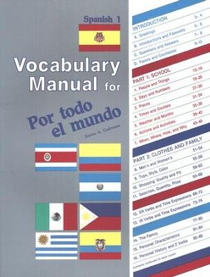 Abeka Por todo el mundo Spanish Year 1 Vocabulary Manual   -