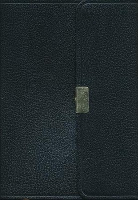 KJV Compact Reference Bible, Button Flap, Black  - Slightly Imperfect  -