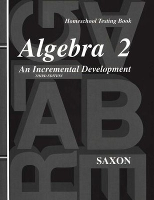 Algebra 2 Test Forms, 3rd Edition   -