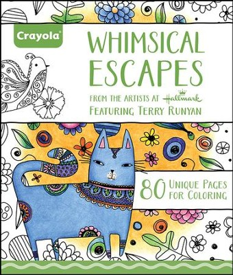 Whimsical Escapes Coloring Book For Adults