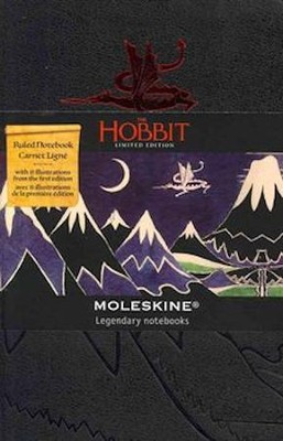 Moleskine Limited Edition Hobbit Pocket - Ruled  Notebook, black  -