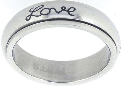Faith Hope Love Spin Ring Size 5  -