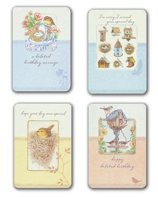 Belated Birthday Cards, Box of 12 (KJV)   -