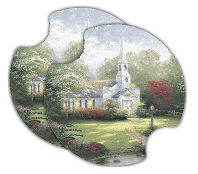 Thomas Kinkade Hometown Chapel, Car Cup Holder Stone  -     By: Thomas Kinkade