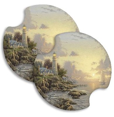 Thomas Kinkade Sea of Tranquility, Car Cup Holder Stone  -     By: Thomas Kinkade