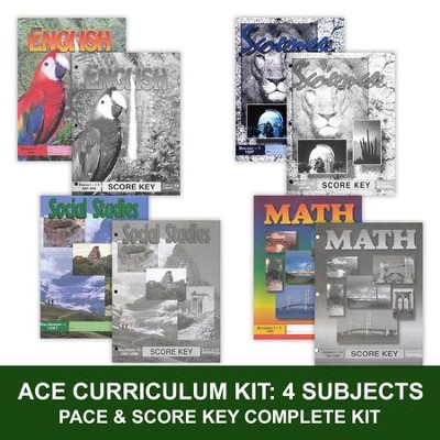 ACE Core Curriculum (4 Subjects), Single Student Complete PACE & Score Key Kit, Grade 9, 3rd Edition  -
