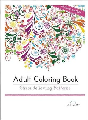 Adult Coloring Book Stress Relieving Patterns  -     By: Blue Star Coloring