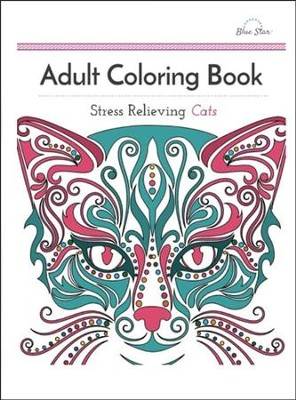 Adult Coloring Book: Stress Relieving Cats  -     By: Adult Coloring Book Artists