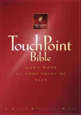 NLT TouchPoint Bible - Paperback, burgundy  -