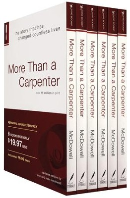 More Than a Carpenter, 6 Copies--Personal Evangelism Pack  -     By: Josh McDowell, Sean McDowell