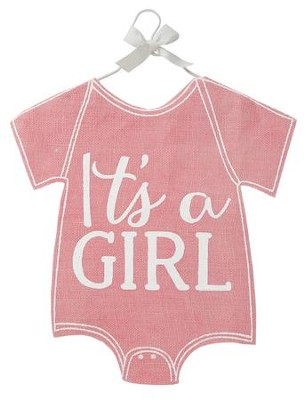 It's A Girl Baby Crawler Decorative Flag, Pink  -