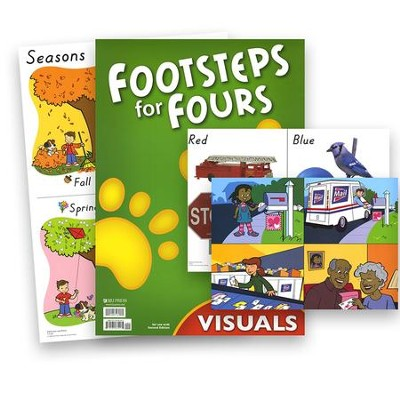 BJU K4 Footsteps Visual Packet, Second Edition   -