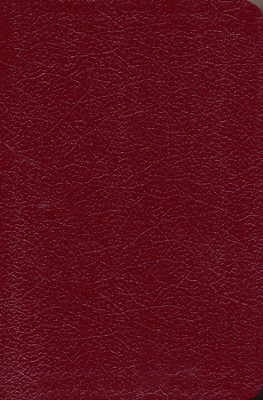 NLT Slimline Center Column Reference Burgundy Bonded Leather  -