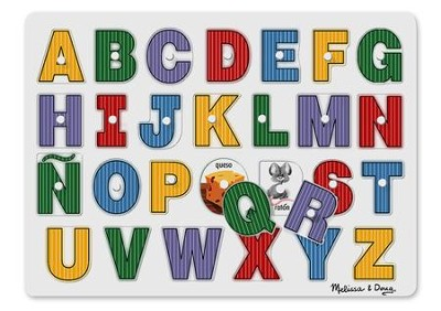 See-Inside Spanish Alphabet Peg Puzzle  -