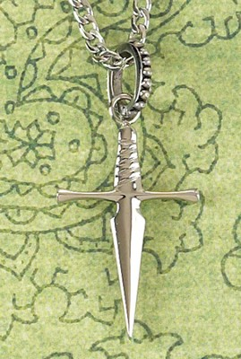 Sword Cross Necklace  -
