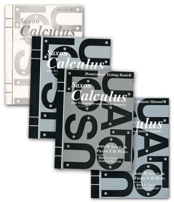 Saxon Calculus Homeschool Kit with Solutions Manual   -