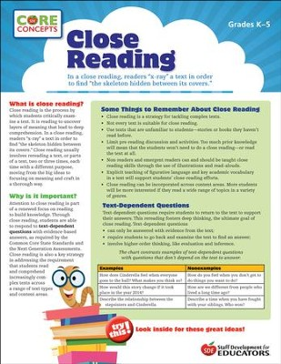 Close Reading - Core Concepts  -
