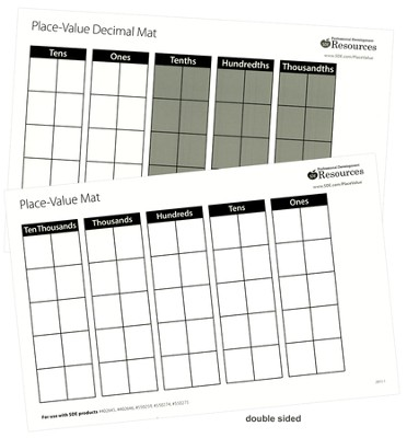 Place Value Mats, 10 Pack   -