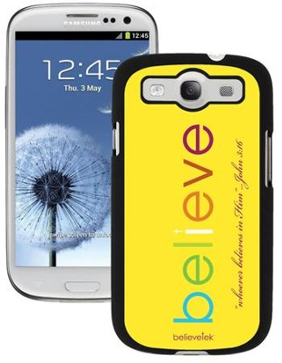 Believe Galaxy 3 Case, Yellow  -