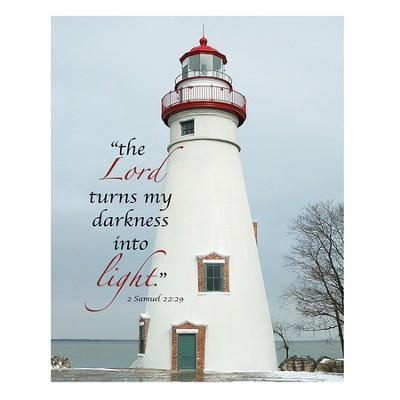 The Lord Turns My Darkness Into Light, Lighthouse Magnet, Large  -     By: Tiffany Kimmet