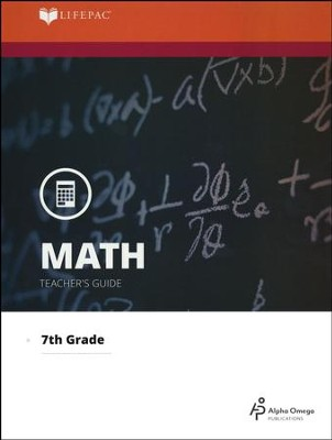 LIFEPAC Math Grade 7 (Pre-Algebra & Pre-Geometry 1)  Teacher's Guide (Updated Edition)  -
