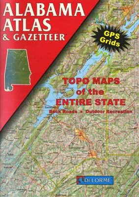 Delorme Atlas & Gazetteer Series: Alabama Edition  -