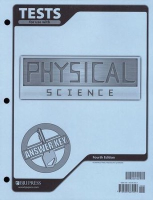 BJU Physical Science Tests Answer Key Grade 9   -