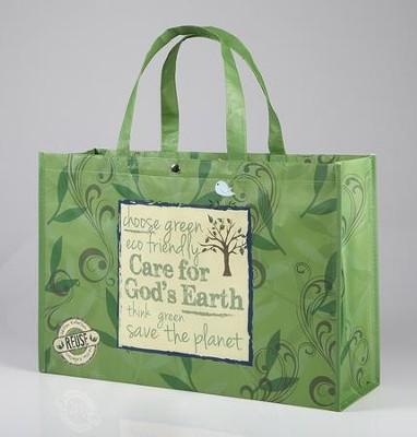 Care For God's Earth, Reusable Shopping Tote Bag  -     By: Miriam Hahn