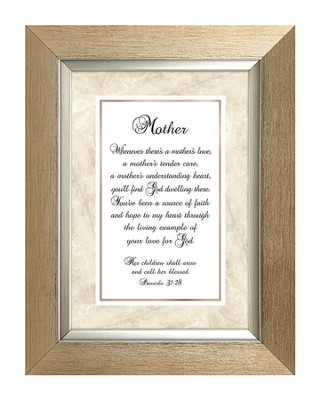 Mother, Proverbs 31:28, Framed Print, 7X9  -