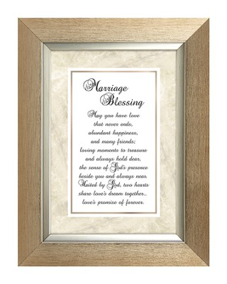 Marriage Blessing Framed Print, 7X9  -