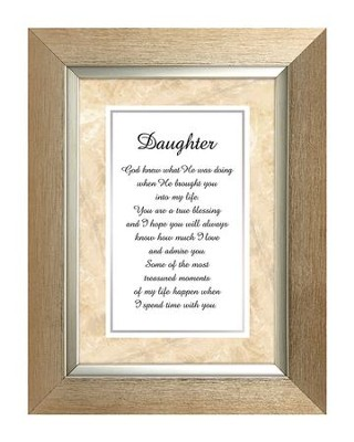 Daughter Framed Print, 7X9  -