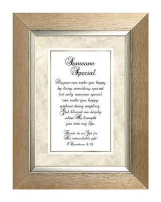Someone Special, II Corinthians 9:15, Framed Print, 7X9  -