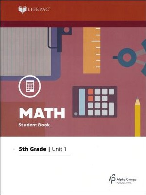 Grade 5 Math Lifepac 1: Operation of Whole Numbers (2016 Updated Edition)  -